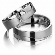 par alianças 10 grs ouro branco 18k diamantes frete lindas!!