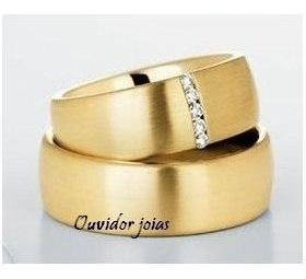 par alianças 12 grs ouro 18k/750 diamantes frete nota fiscal