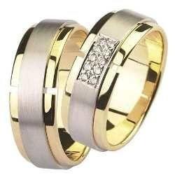 par alianças 16 grs ouro 18k 750 diamantes frete nota fiscal