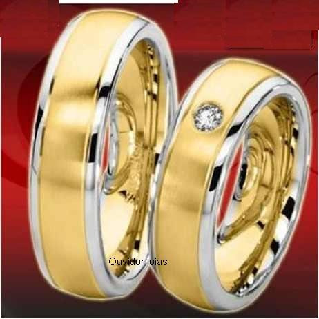 par alianças 26 grs ouro18k/ 750 diamantes frete nota fiscal
