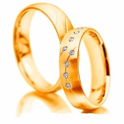 par alianças 7 grs ouro18k/750 diamantes frete 12x sem juros