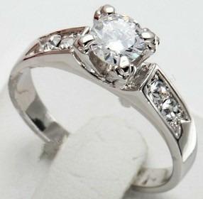 par alianças banhadas a prata noivados e compromisso + anel