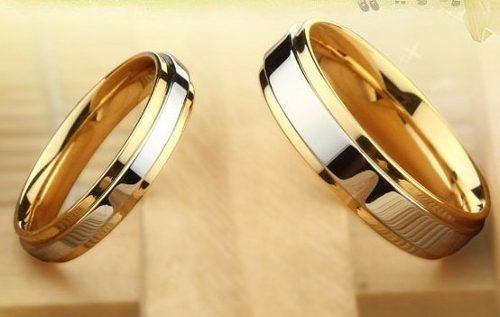par alianças compromisso banhado prata ouro 18k