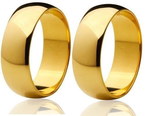 par alianças de ouro 18k 10mm - 20 gramas frete grátis