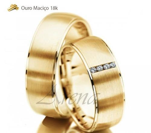 par alianças de ouro 18k 6mm 14 gramas 6mm noivado casamento