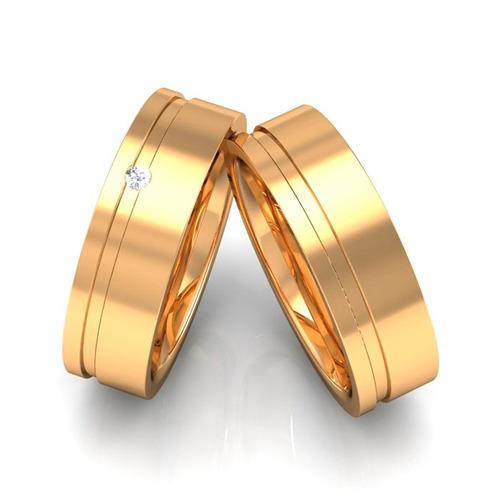 par alianças de ouro 18k 6mm 8 gramas diamante + nota fiscal