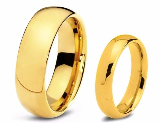 f19b081852939 Par Alianças De Ouro 18k 7 Mm 6 Gr - Noivado - Casamento - R  999