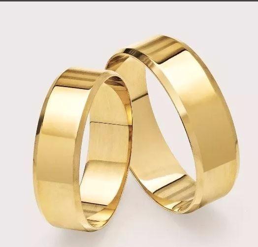 Par Alianças De Ouro 18k 8mm 16 Gramas - Noivado - Casamento - R  2.199,00  em Mercado Livre 1304cbb9d1