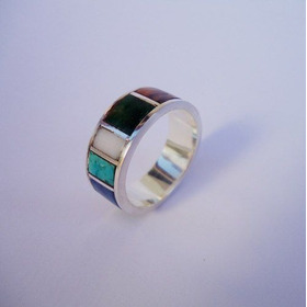 Par Alianças De Prata E Pedras Turquesa Cristal Leit ... 8mm