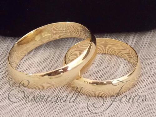 par alianças ouro 18 k 5 mm  7 gramas casamento !