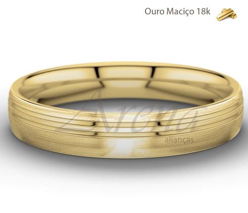 par alianças ouro 18k 12 gramas 5mm anatômicas ouro 18k 750
