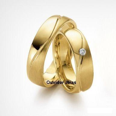 par alianças ouro  prata frete garantia total-12 x sem juros