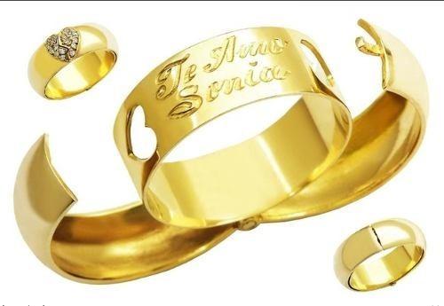 par alianças prata  banho ouro 18k zircônias 12 x sem juros