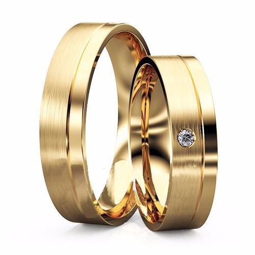 par alianças reta ouro 18k 14 gramas 6mm noivado e casamento
