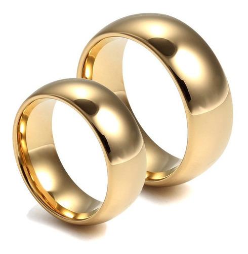 par alianças tungstênio 8mm folheada ouro 18k vários modelos