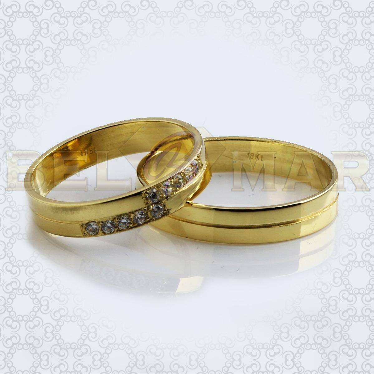 35a6c39f3522 par alianzas cinta 10 piedras oro 18 kts. 6gr. 4mm. Cargando zoom.