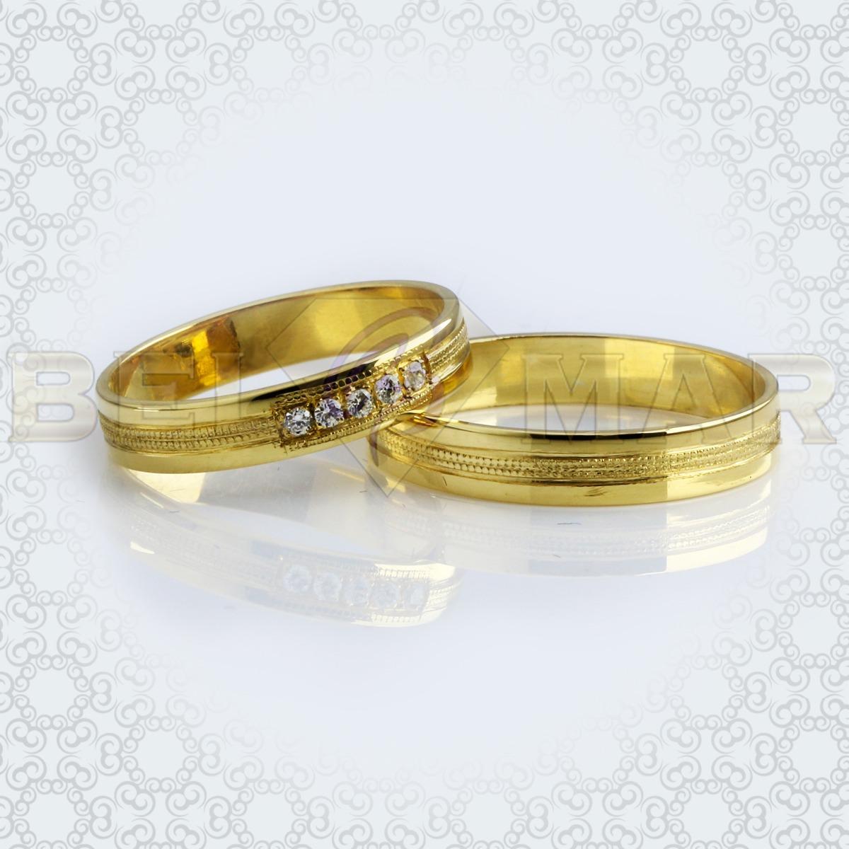 f59a06521a54 par alianzas cinta 5 piedras oro 18 kts. 5.8gr. 4mm. Cargando zoom.