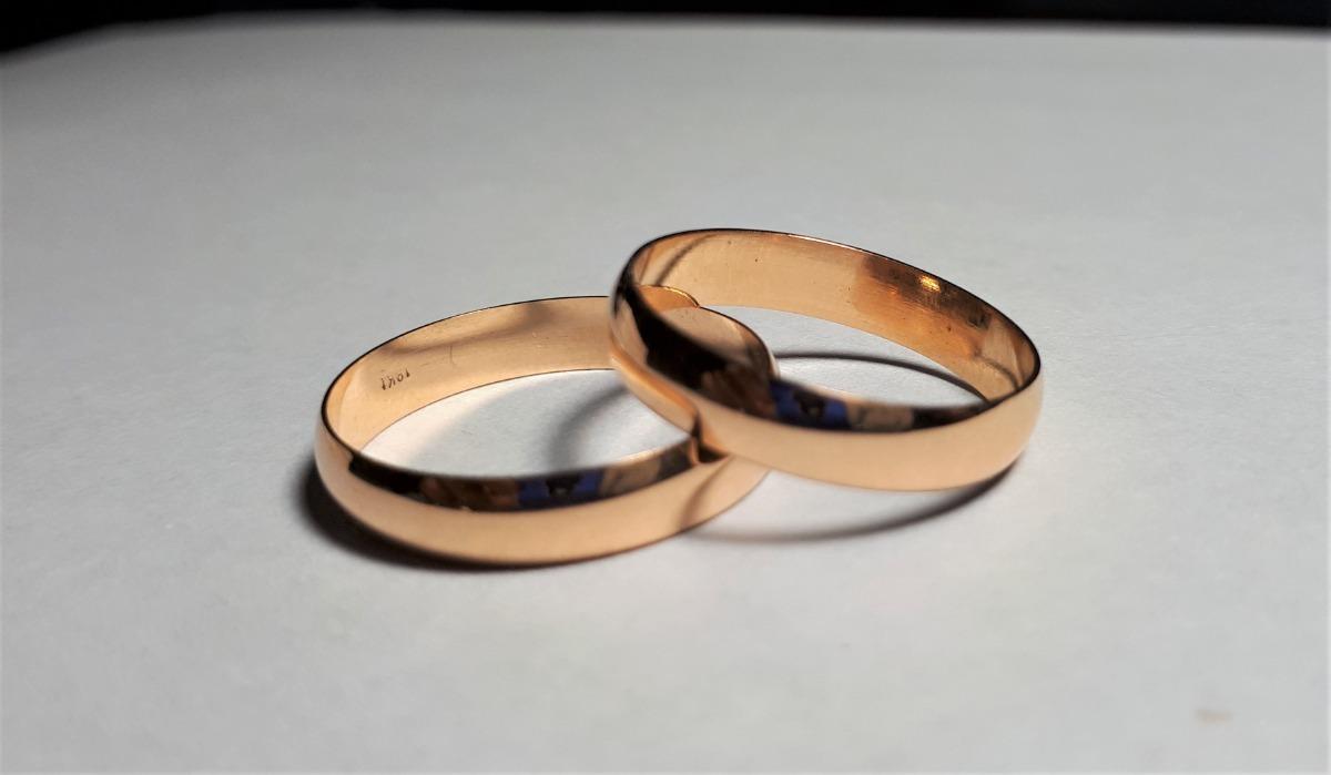 fc0eda19dea5 par alianzas de boda oro 18k 4gr media italiana 4mm 12 pagos. Cargando zoom.