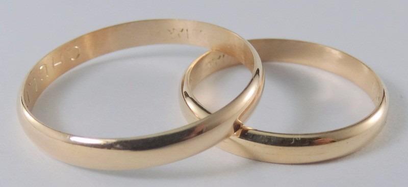 64c7526e4f4e Par Alianzas Oro 18k Clasicas 3 Gr Casamiento Plan 12 Cuotas -   7.898