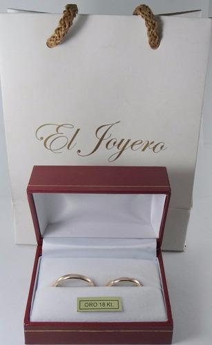 par alianzas oro 18k clasicas 3 grs boda compromiso garantía