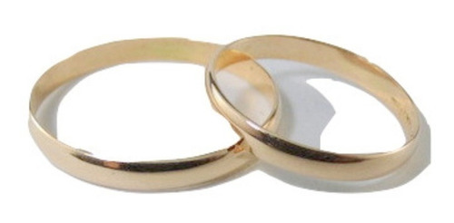 par alianzas oro 18k. clasicas 3 grs cristal swarovski boda