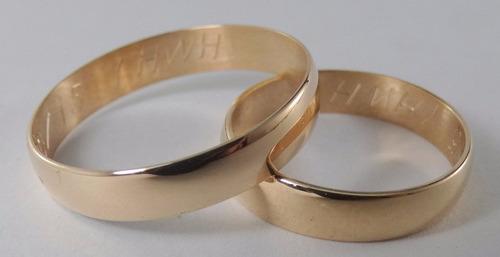 par alianzas oro 18k clasicas 4 grs garantía casamiento boda