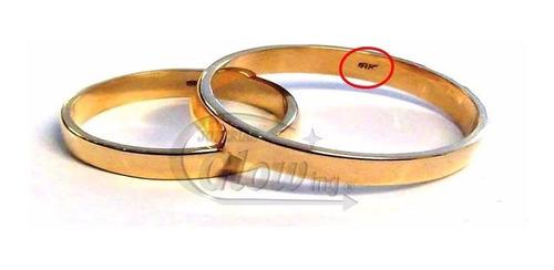 par alianzas oro 18k macizas cinta 3mm 4gr    ctas
