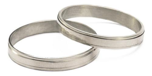 par alianzas plata 925 espejo compromiso grabados novios !!!