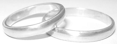 par alianzas plata 925 mediacaña grabados sin cargo novios promoción garantia escrita stock permanente - el trust joyero