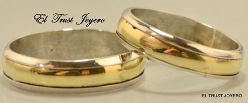 par alianzas plata 925 oro 18k italiana grabados sin cargo novios boda promoción garantia escrita stock el trust joyero