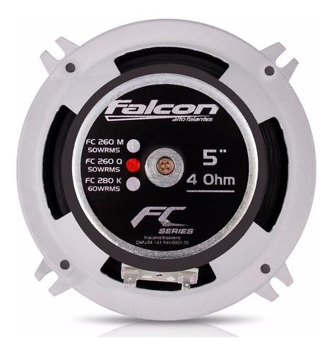 par alto falante falcon quadriaxial 5  50w rms fc260q 5