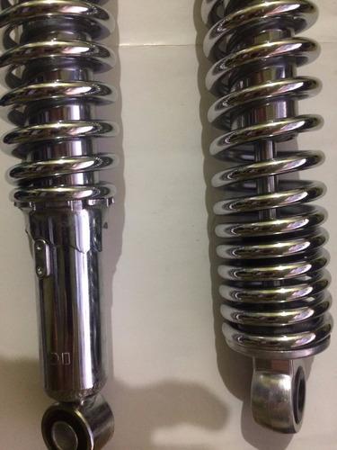 par amortecedor mola inteiro cromado titan cg fan 125 150 ks