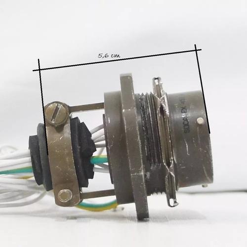 par amphenol série 451, conector circular 16 pinos socapex