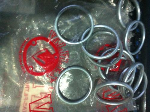 par anel vedação escape honda cb400-450 ótima qual.valflex