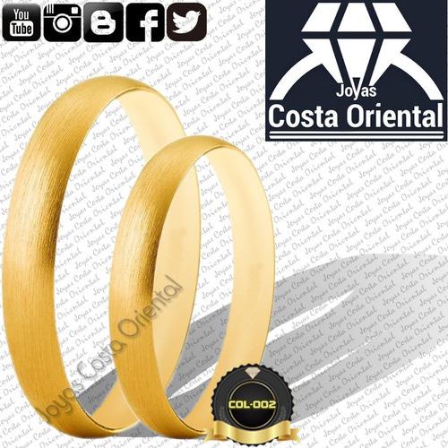 par anillos aros matrimonio bodas 3mm compromiso 10k