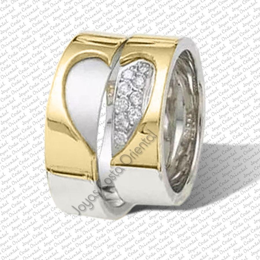 Matrimonio In Oro : Par anillos aros matrimonio bodas plata y oro k bs
