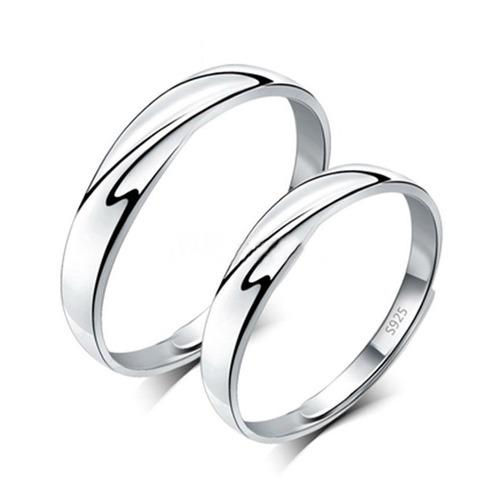 par anillos duo promesa plata 925 amor parejas entrelazados