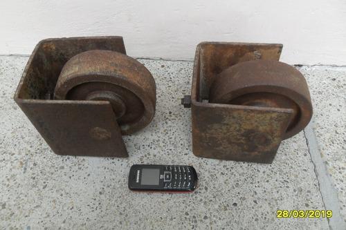 par antiguas ruedas zorra carro cargas ideal mesa ratona