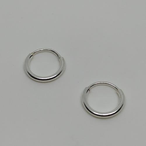 par aretes candongas lisas nano mini plata bebes niñas 00338
