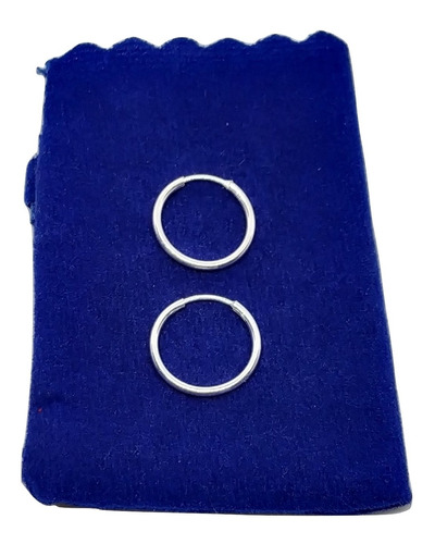 par aretes candongas unisex - niñas bb plata pequeñas 00170