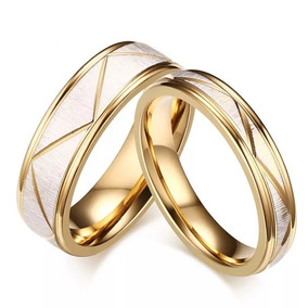 Tienda muy elogiado materiales superiores Par Argollas De Matrimonio En Baño De Oro 18k Estuche A19