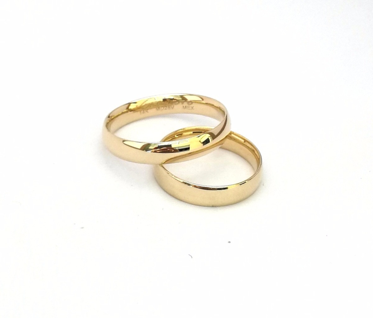 040b21bb3b7 Par Argollas Matrimoniales Confort Oro Macizo 14k 4mm