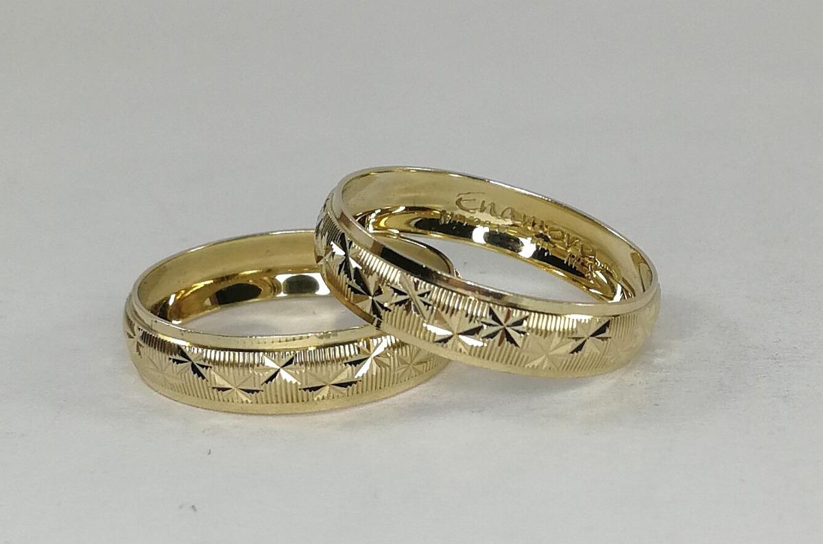 d59284dc8f5 Par Argollas Matrimoniales Oro Macizo De 10k (envio Gratis)