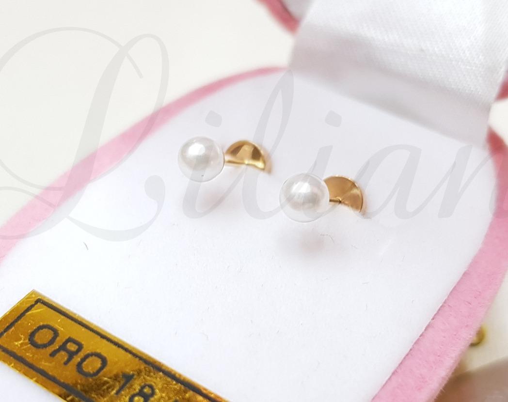 d5286b5153a9 par aritos abridores oro 18k perlas bebe garantia. Cargando zoom.