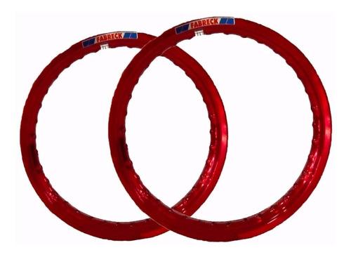 par aro aluminio cobre roda moto titan 125/150 fan125/150