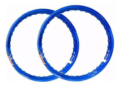 par aro moto alumínio cor azul titan fan 125 150+largo