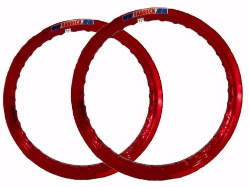 par aro moto alumínio vermelho vitral titan fan 150/125