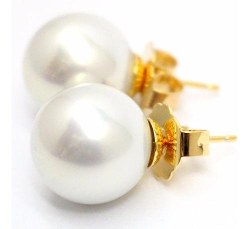 par aros perla española 14 mm maperla dorado ionizado gtia