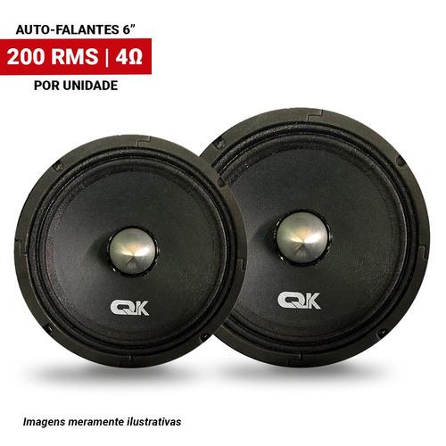 par auto falante quake 6 pol 200rms (400rms par)