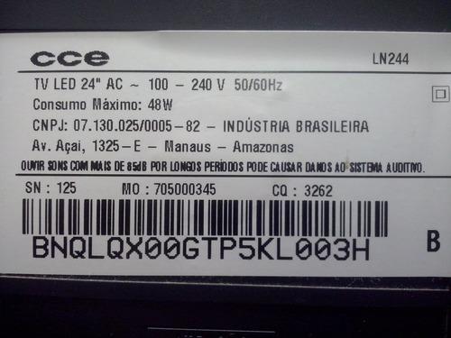 par auto falante usado tv cce 24  - mod.ln244